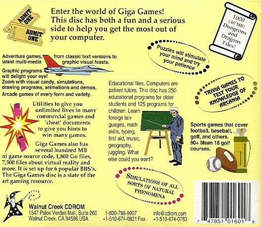 Retail Box back Giga Games August 1993.