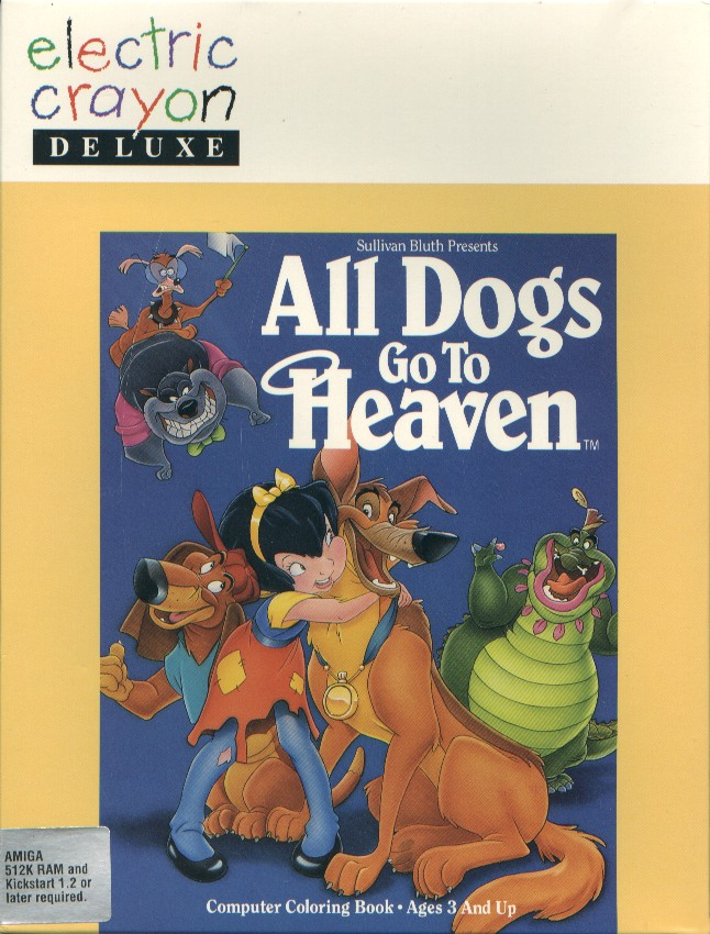 Packaging cover All Dogs Go To Heaven.