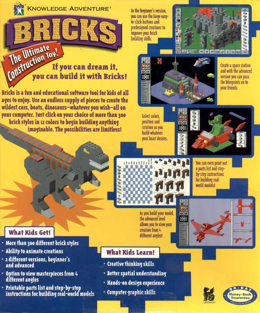 Retail Box back Bricks.