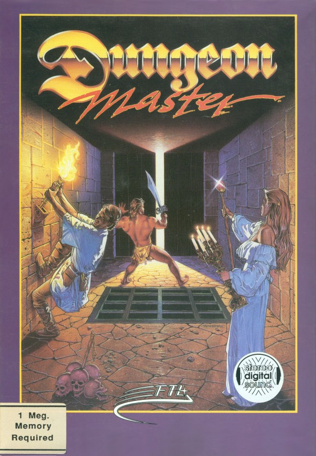 Packaging cover Dungeon Master.