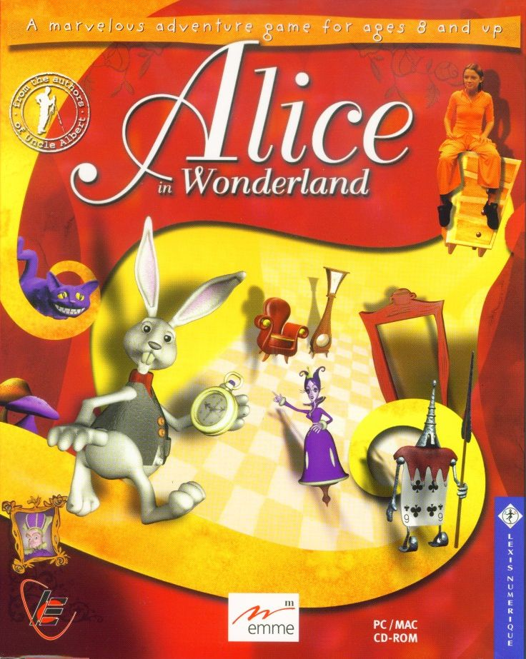 Retail Box cover Alice In Wonderland.