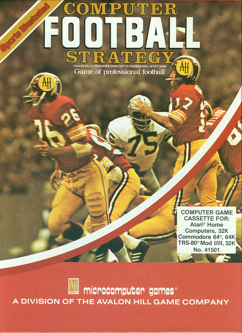 Packaging cover Sports Illustrated Computer Football Strategy.