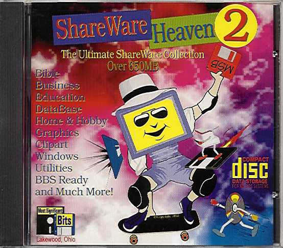 Packaging cover Shareware Heaven 2.