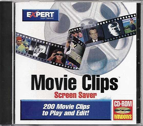 Packaging cover Movie Clips Screen Saver.