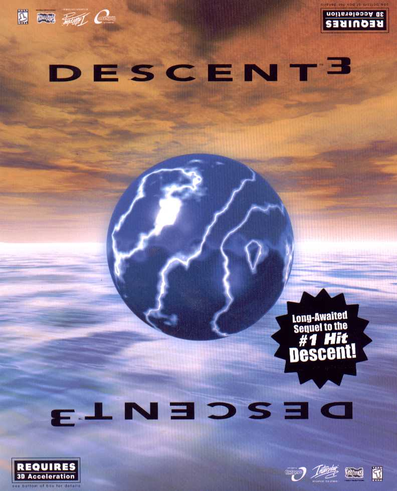 Packaging cover Descent 3.
