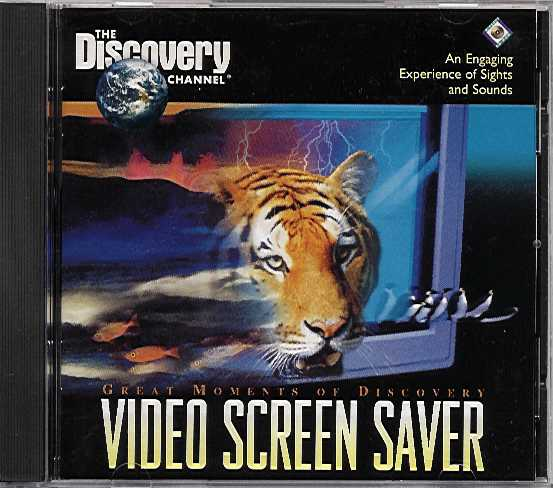 Packaging cover Great Moments Of Discovery Video Screen Saver.