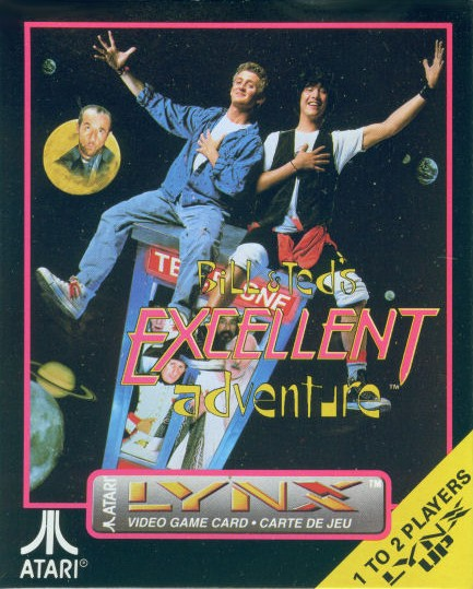 Packaging cover Bill & Ted's Excellent Adventure.