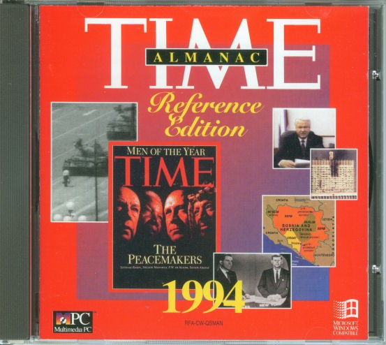 Packaging cover Time Almanac 1994.
