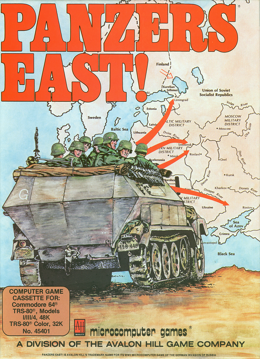 Packaging cover Panzers East!.