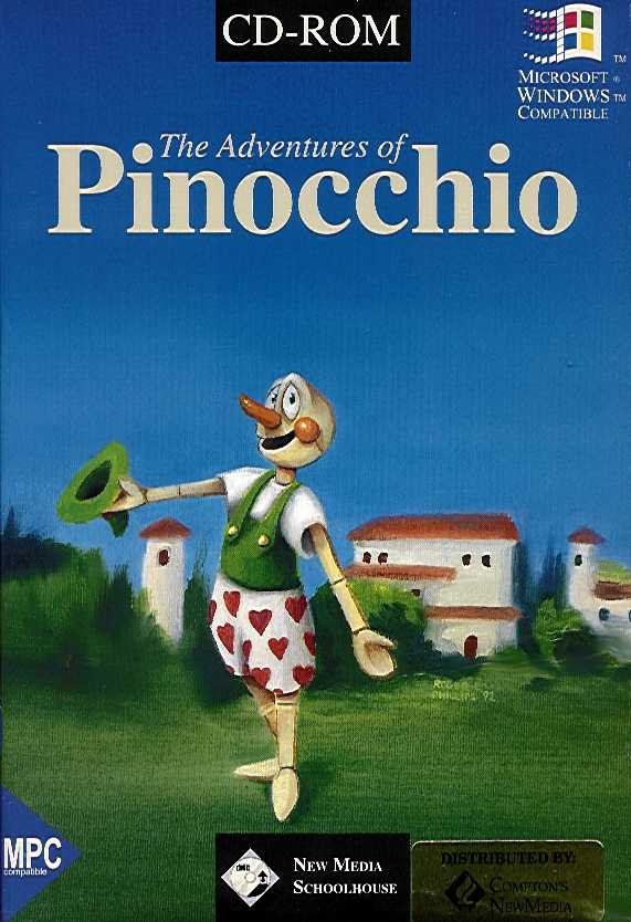 Packaging cover Adventures Of Pinocchio.