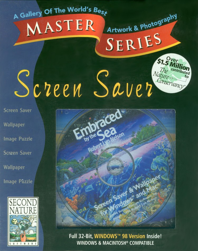 Packaging cover Master Series Screen Saver: Embraced By The Sea.