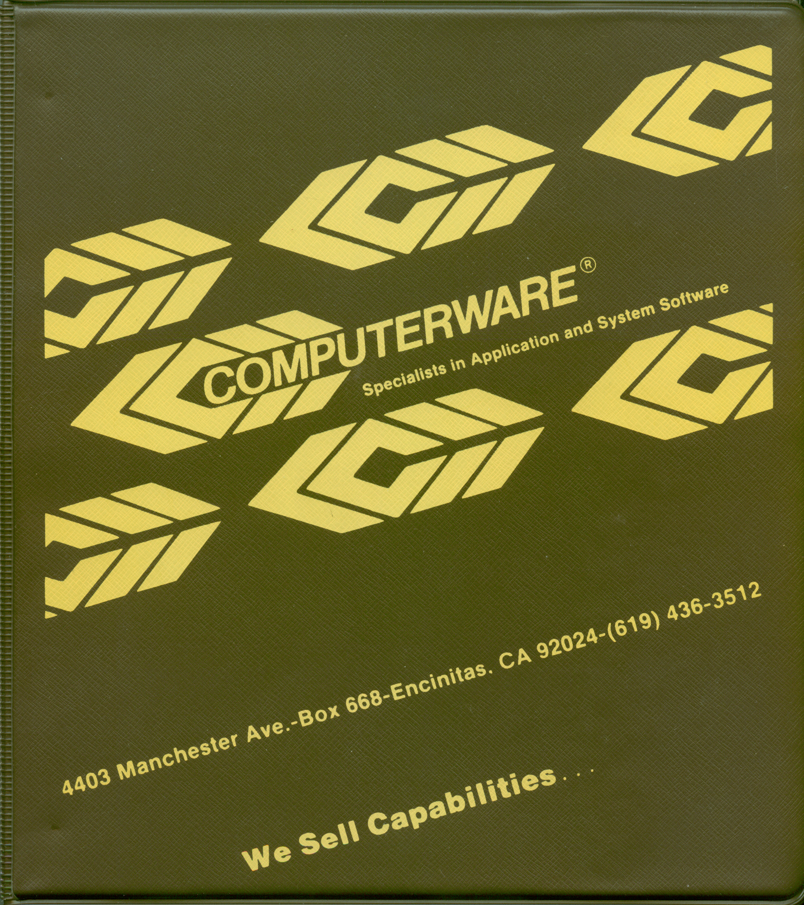 Packaging cover Computerware's General Ledger System.