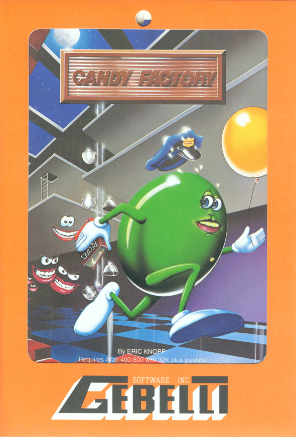 Cardboard Sleeve cover Candy Factory Atari 8-Bit.
