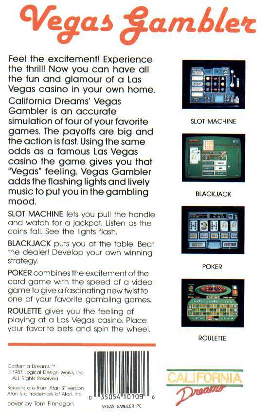 Retail Box back Vegas Gambler.