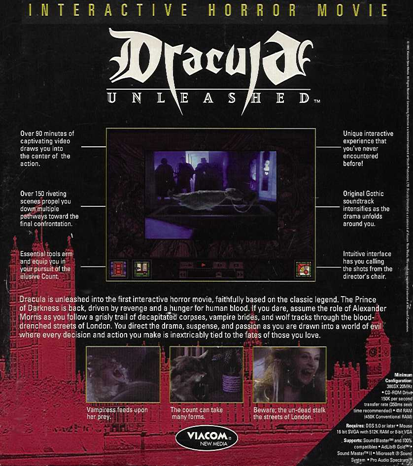 Retail Box back Dracula Unleashed.