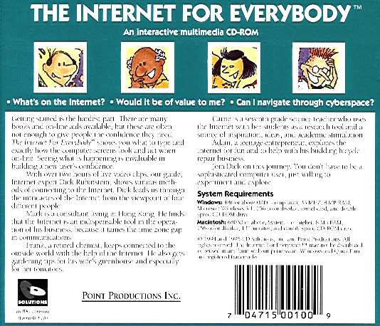 Jewel Case back Internet For Everybody.