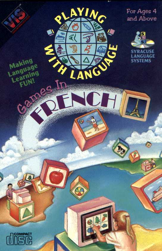 Packaging cover Playing With Language Games In French.