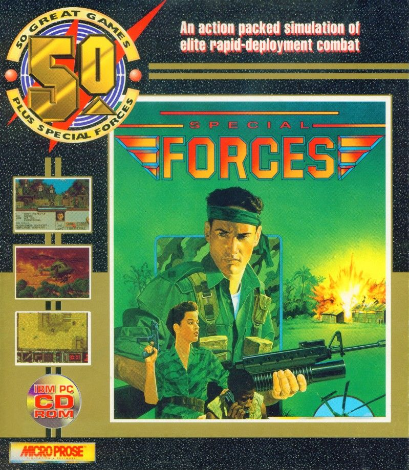 Packaging cover 50 Great Games Plus Special Forces.