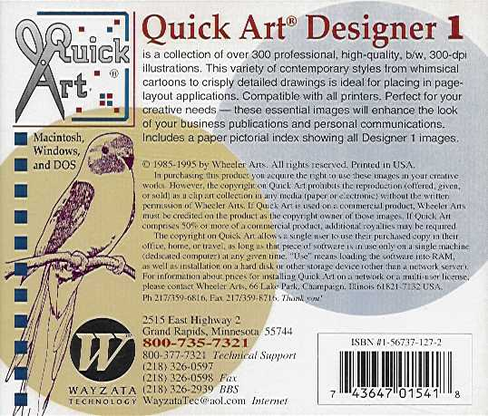 Jewel Case back Quick Art Designer 1.