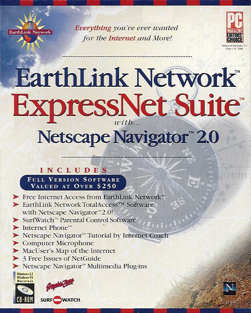 Retail Box cover EarthLink Network ExpressNet Suite.
