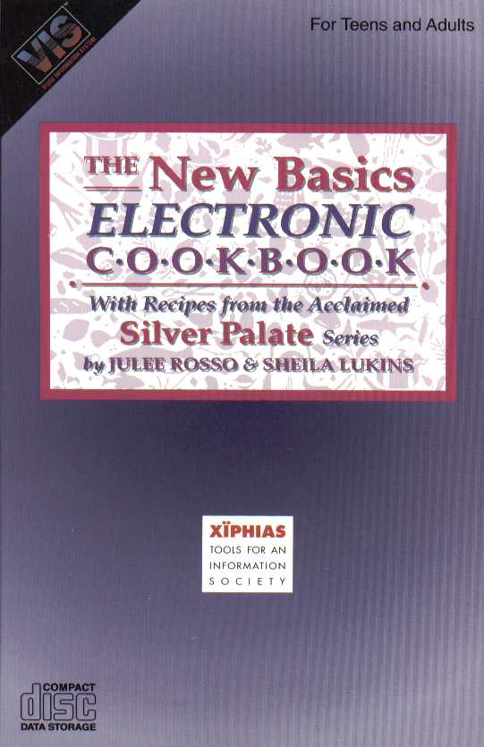 Packaging cover New Basics Electronic Cookbook.