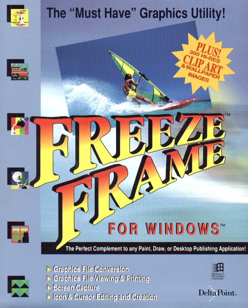 Packaging cover Freeze Frame For Windows.
