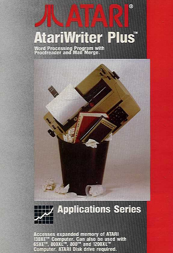 Packaging cover AtariWriter Plus.