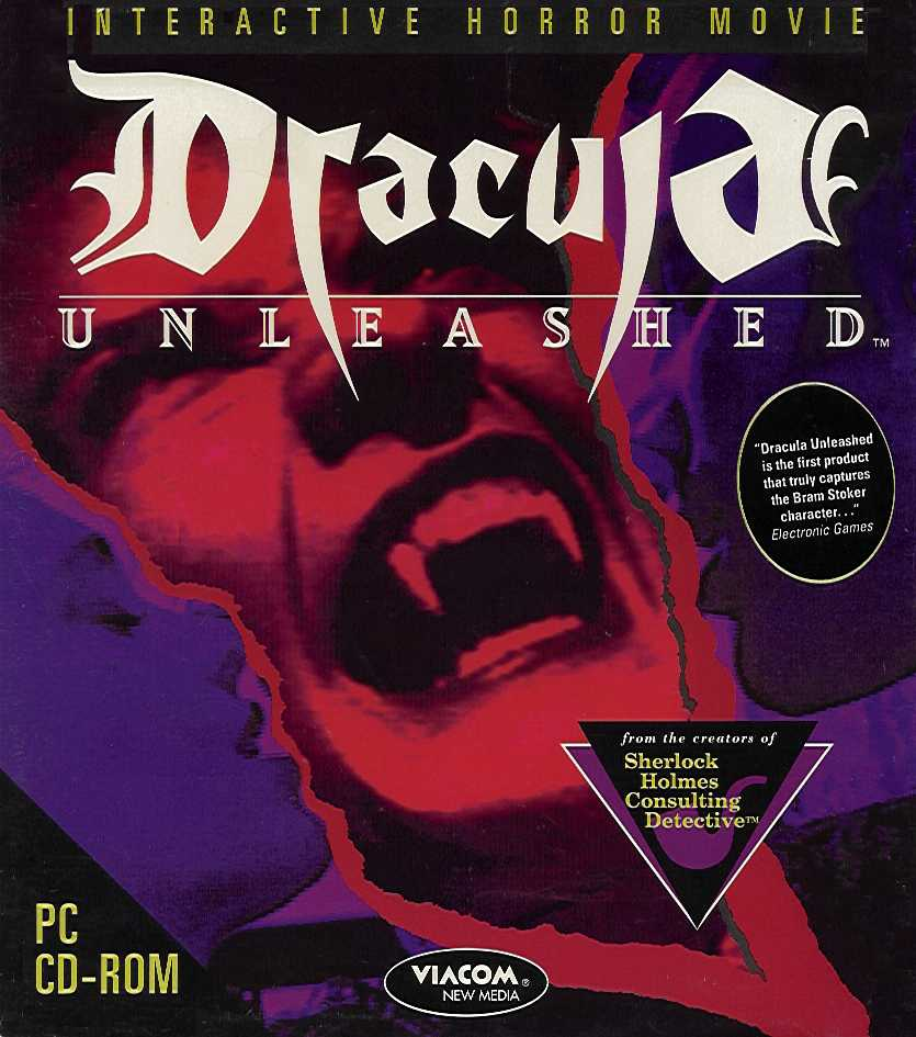 Packaging cover Dracula Unleashed.