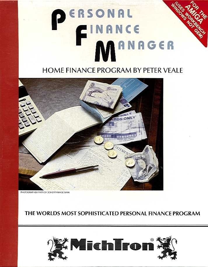 Packaging cover Personal Finance Manager.