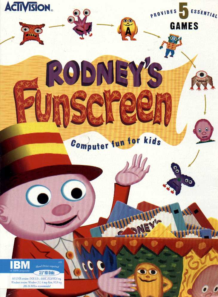 Packaging cover Rodney's Funscreen.