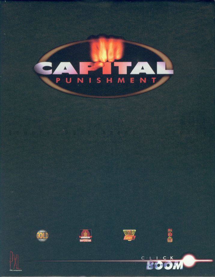 Retail box cover Capital Punishment Amiga 1200.