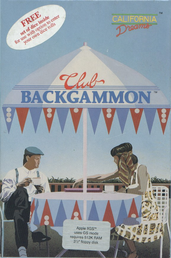 Packaging cover Club Backgammon.