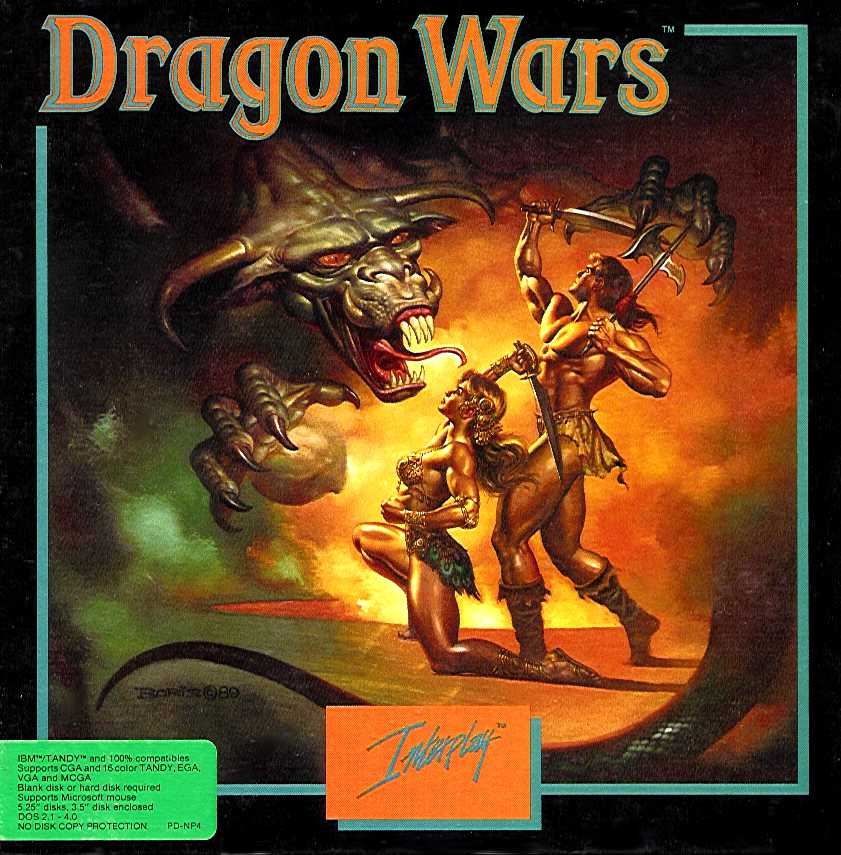 Packaging cover Dragon Wars.