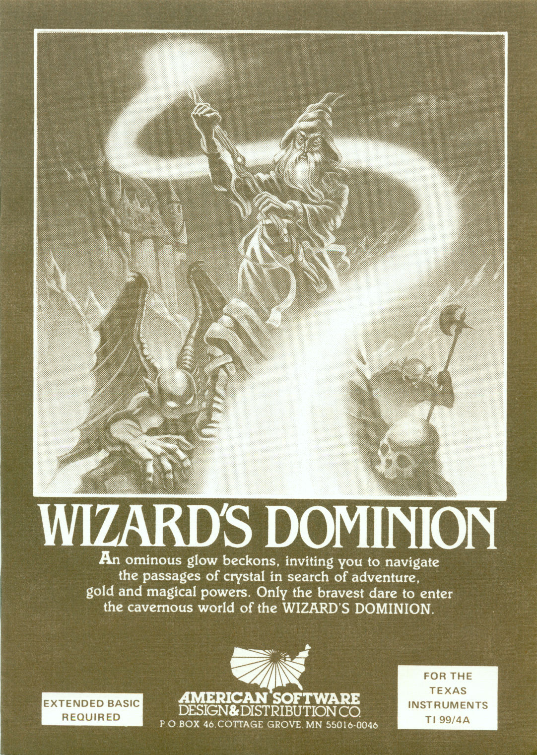 Packaging cover Wizard's Dominion.