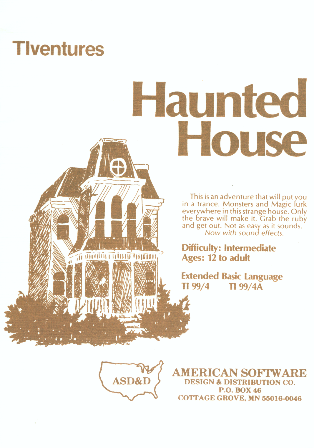 Packaging cover Haunted House.