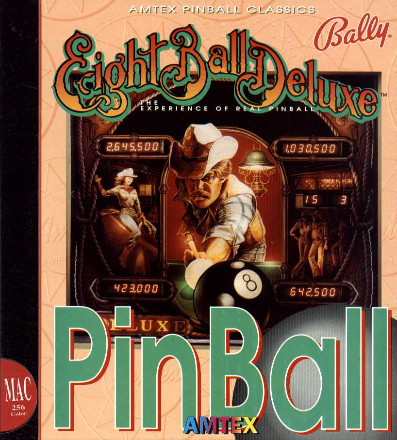 Packaging cover Eight Ball Deluxe Pinball.