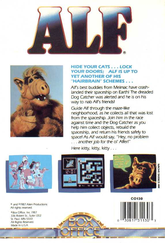 Retail Box back Alf.