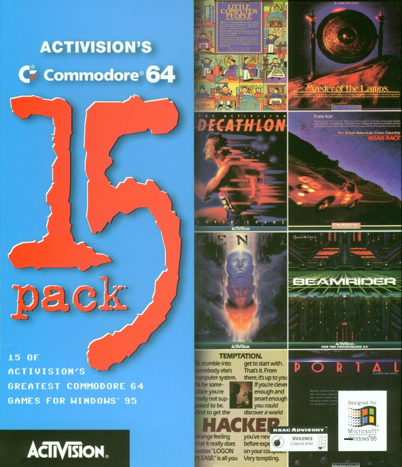 Packaging cover Activision's Commodore 64 15 Pack.