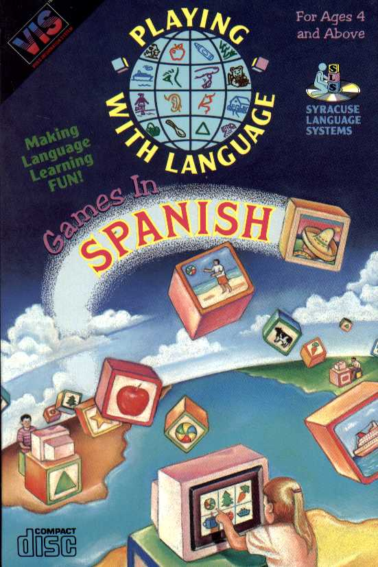 Packaging cover Playing With Language Games In Spanish.
