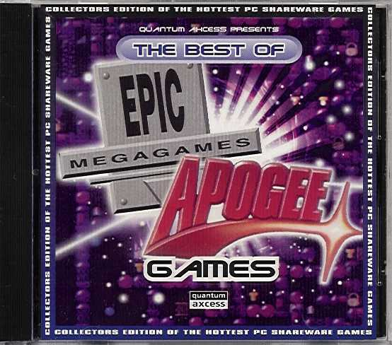 Packaging cover Best Of Epic And Apogee Games.