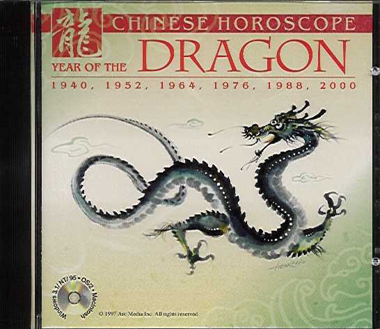 Packaging cover Chinese Horoscope Year Of The Dragon.