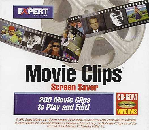Jewel Case back Movie Clips Screen Saver.