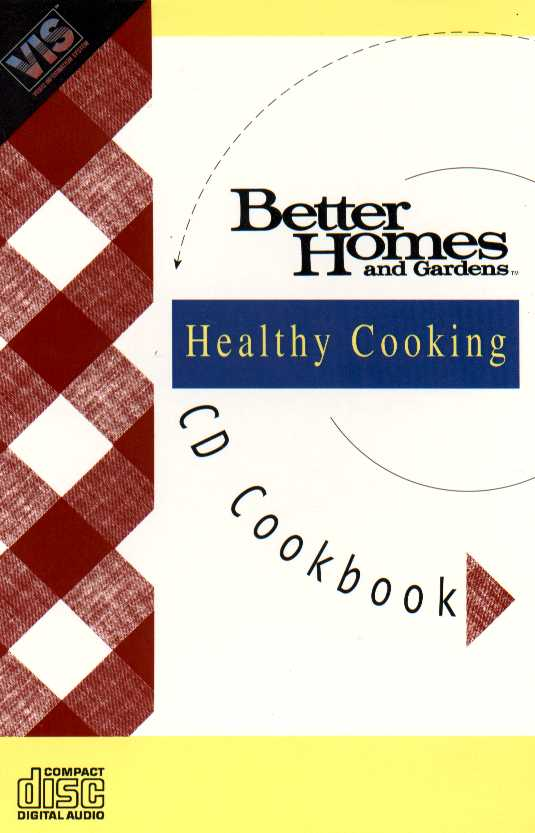 Packaging cover Better Homes And Gardens Healthy Cooking.
