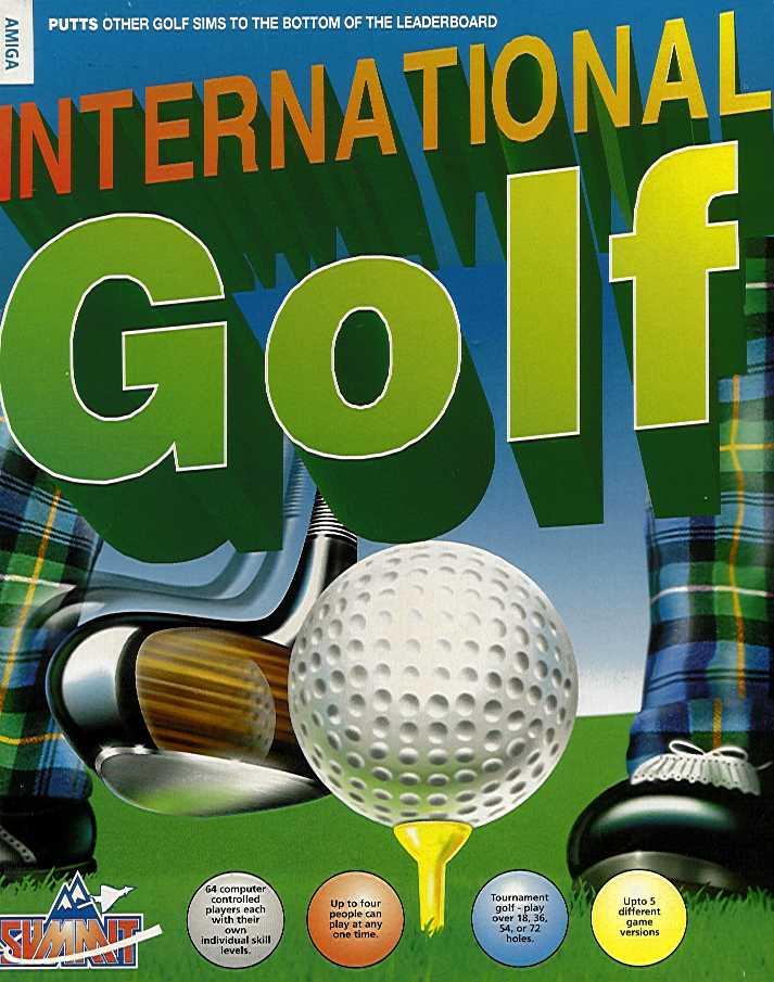 Packaging cover International Golf.