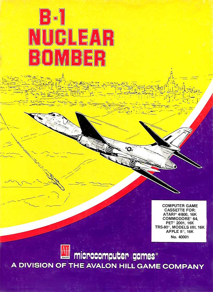 Packaging cover B-1 Nuclear Bomber.