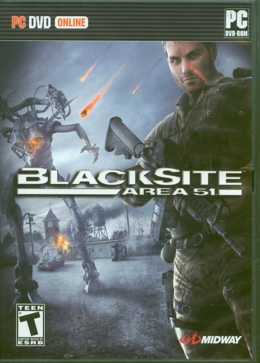 Retail box cover BlackSite: Area 51.