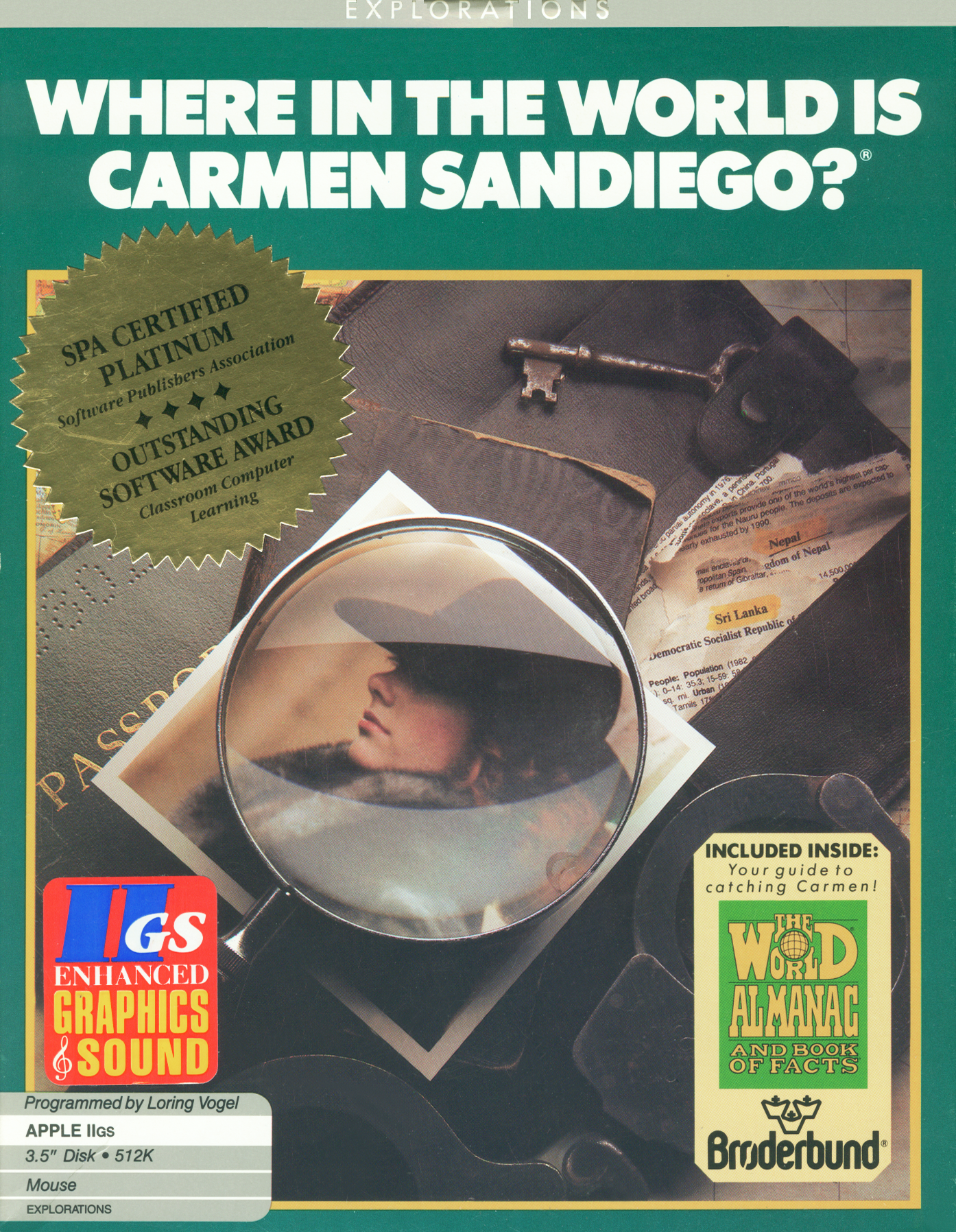 Packaging cover Where In The World Is Carmen Sandiego?.