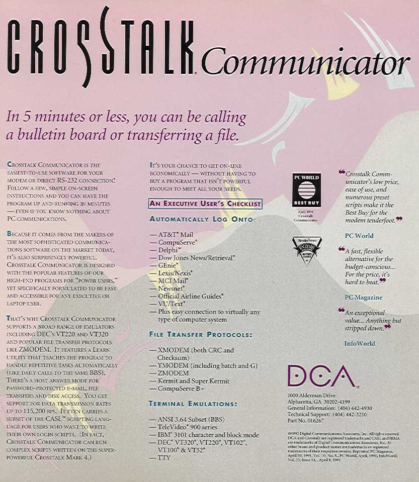 Retail Box back Crosstalk Communicator.