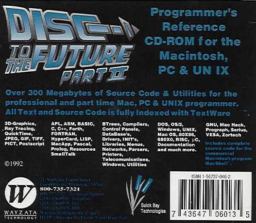 Jewel Case back Disc To The Future Part II.