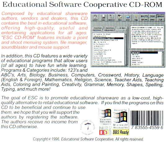 Retail Box back Educational Software Cooperative Volume 4.